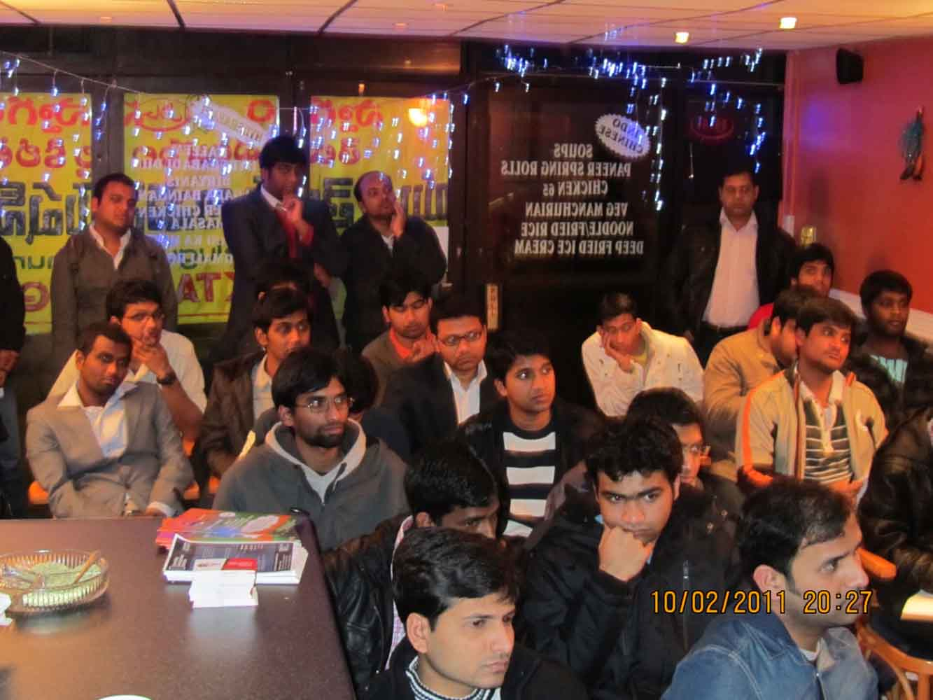 student seminar at tadka restaurent