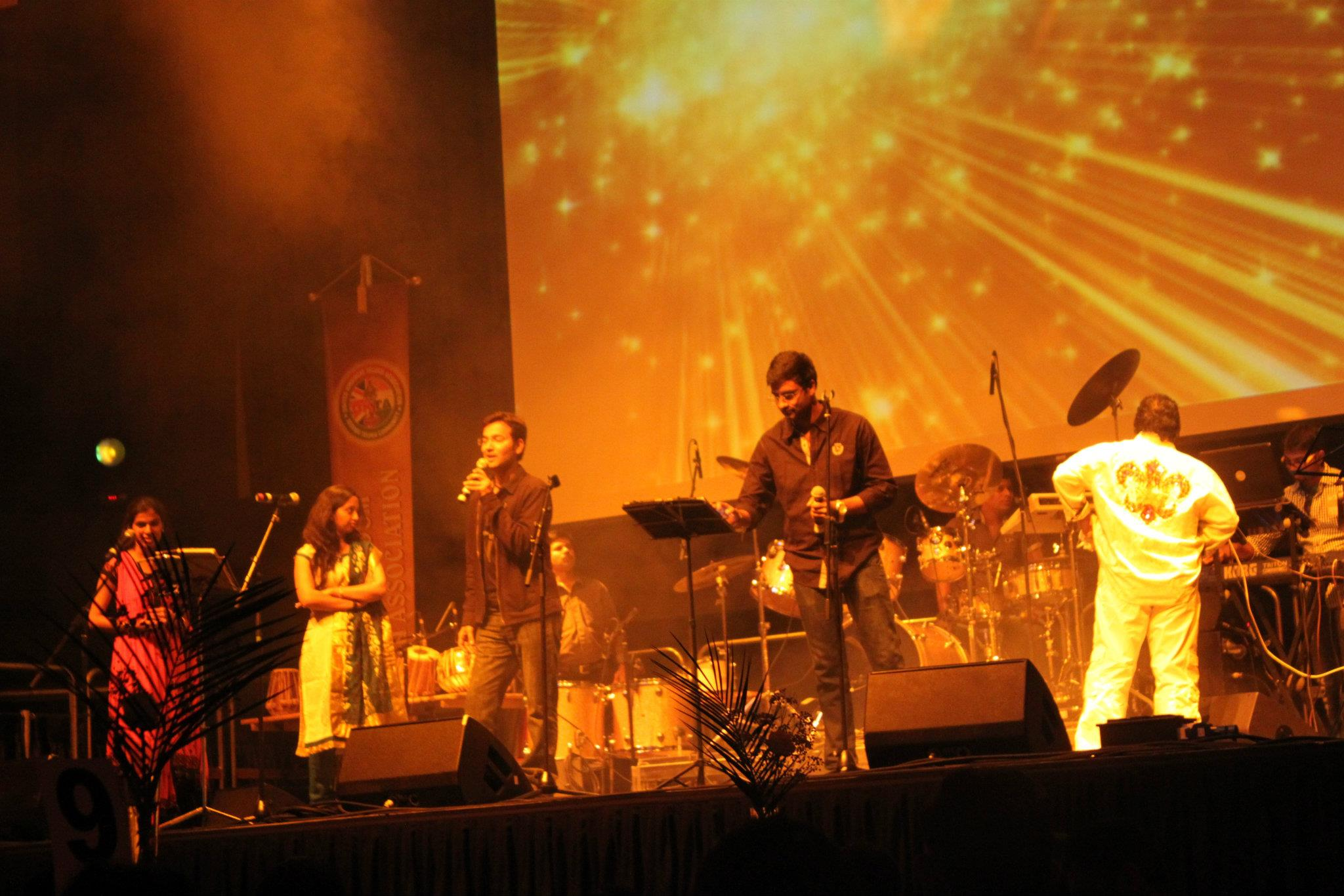 annual day 2012 with mega star chiranjeevi & mani sharma @troxy theatre